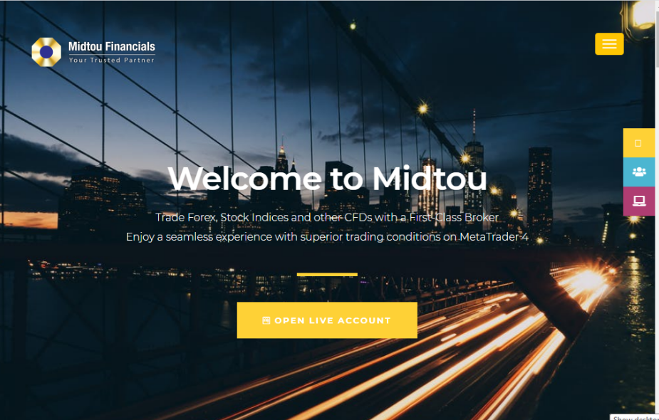 Midtou Financials' Homepage