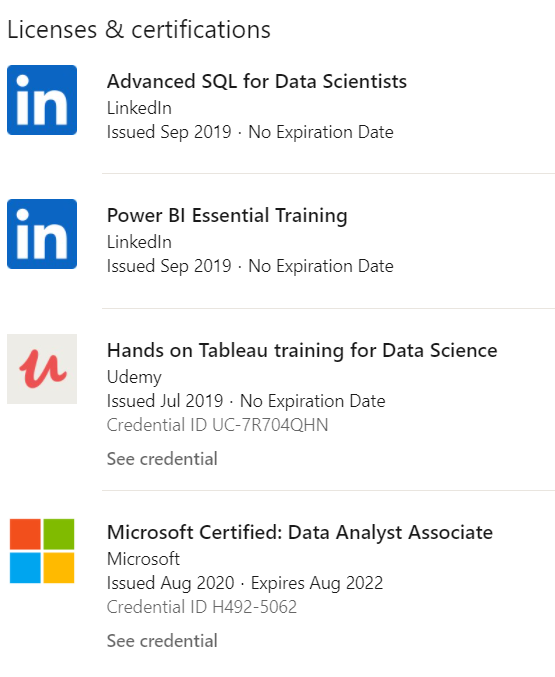 Checking if the person had done any course on Data Science ?