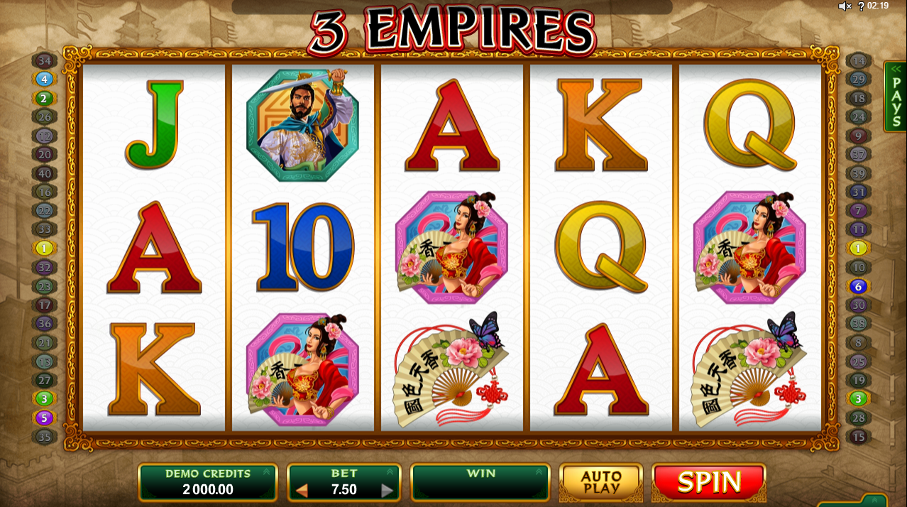 3 Empires Slots Machine Review