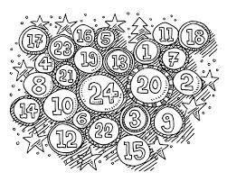 Kerst Tijd Advent Kalender Getallen In Cirkels Tekenen Stockvectorkunst en  meer beelden van Advent - iStock