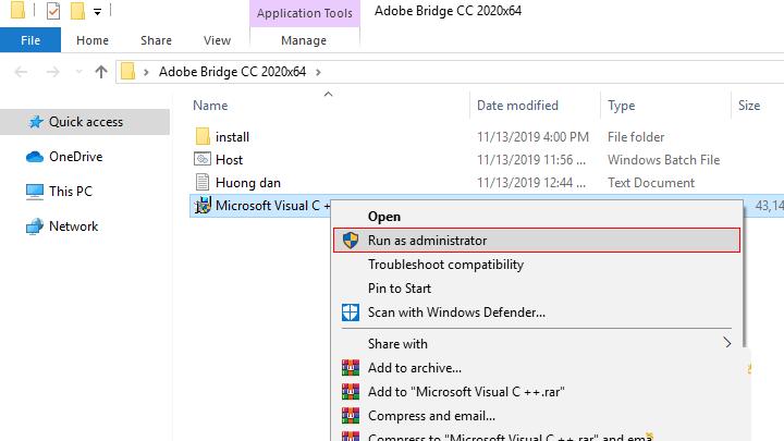 Chạy fileMicrosoft Visual C ++để cài đặt Microsoft Visual C ++
