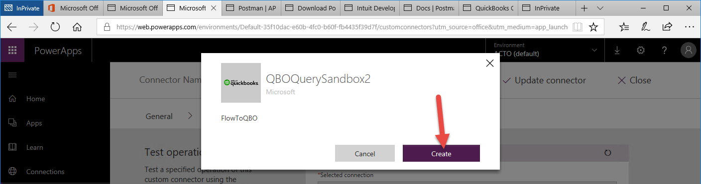 Connect to QuickBooks Online in a Microsoft Flow Workflow