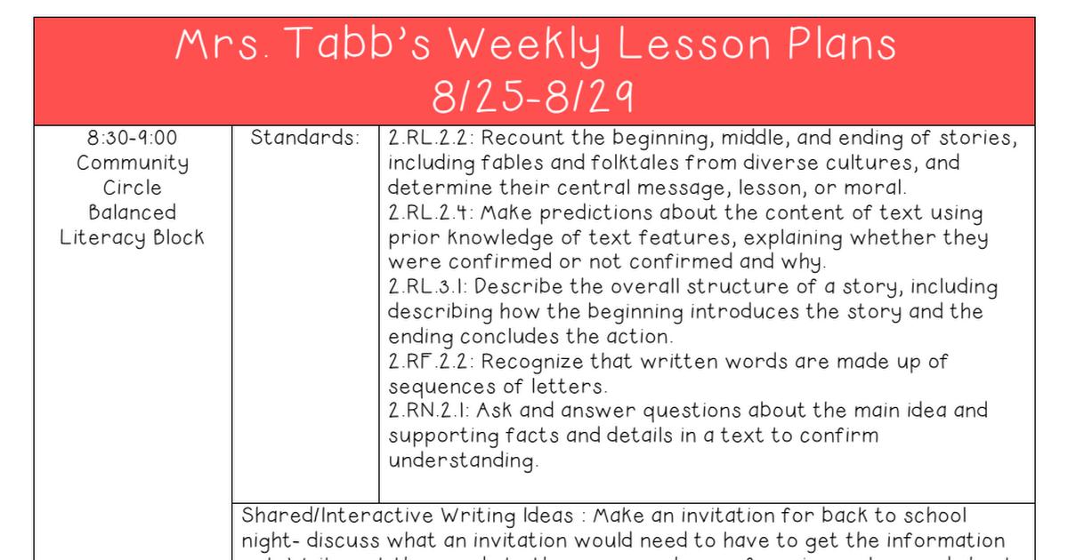 Mrs Jaime Holderbaums Lesson Plans Education Extras - 1200×630