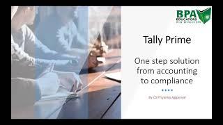 Tally Session By CS Priyanka Aggarwal