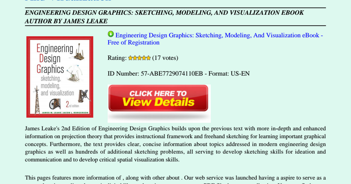 Engineering Design Graphics Sketching Modeling And Visualization Pdf Google Drive