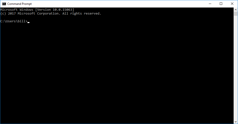 Using the Command Line to Decrypt a Message on Windows
