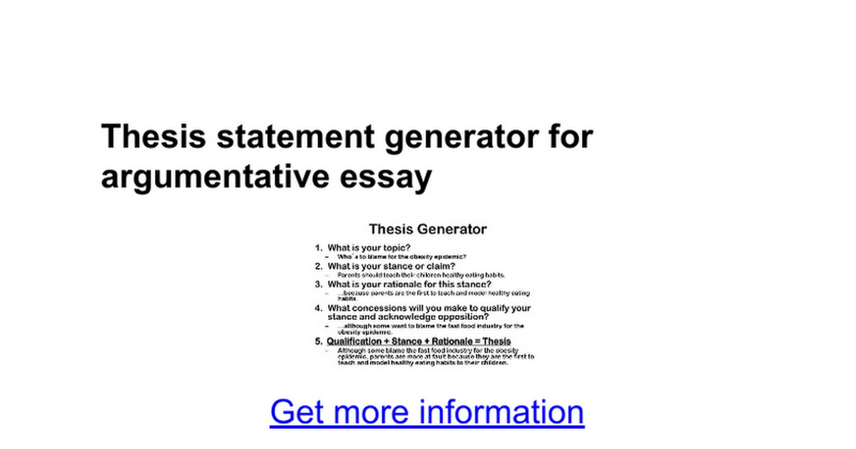 thesis statement examples generator