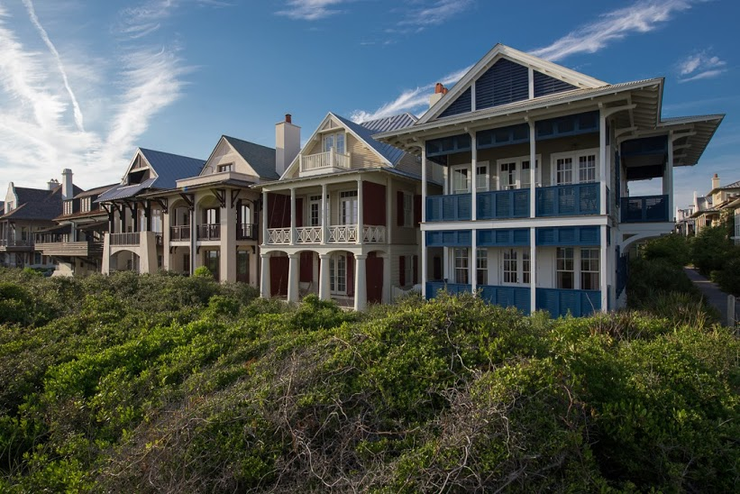 30A Luxury Homes - The very popular Caribbean-inspired homes in Rosemary Beach.
