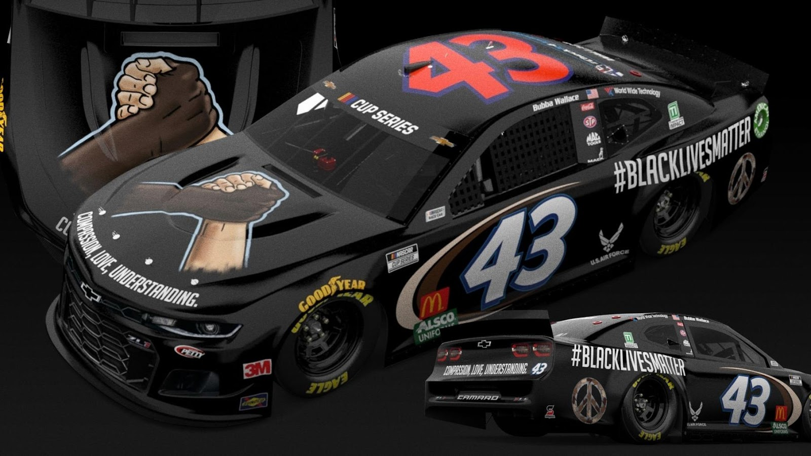 Mobile's Bubba Wallace will have Black Lives Matter paint scheme ...