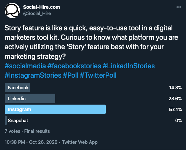 Twitter polls used as a digital marketing trends for 2021