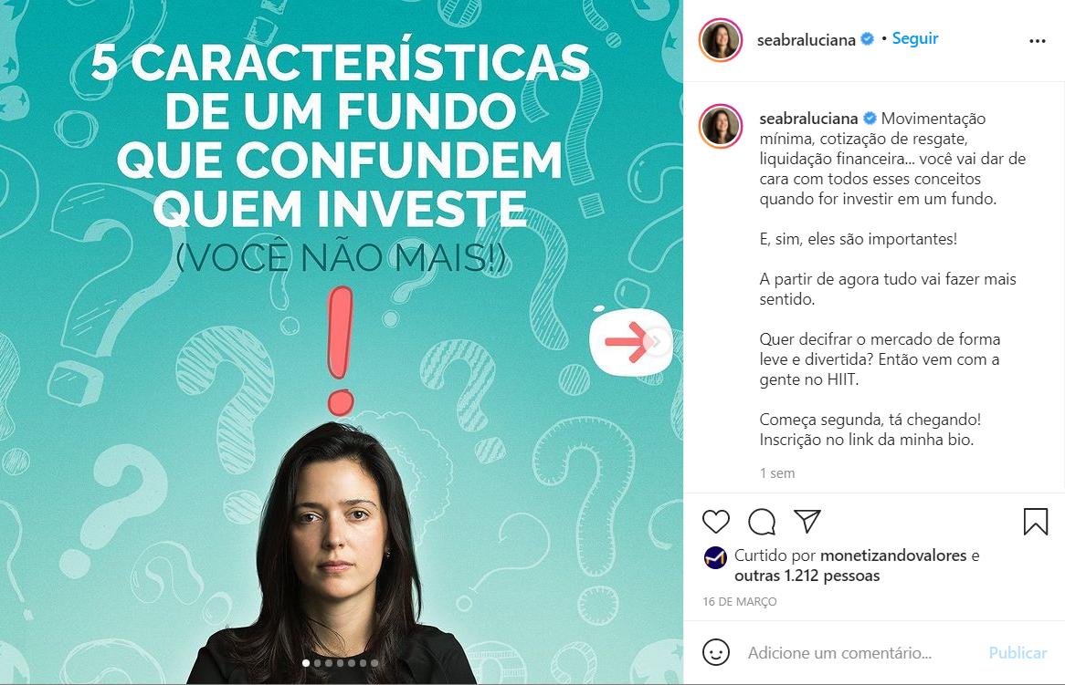 Instagram Luciana Seabra
