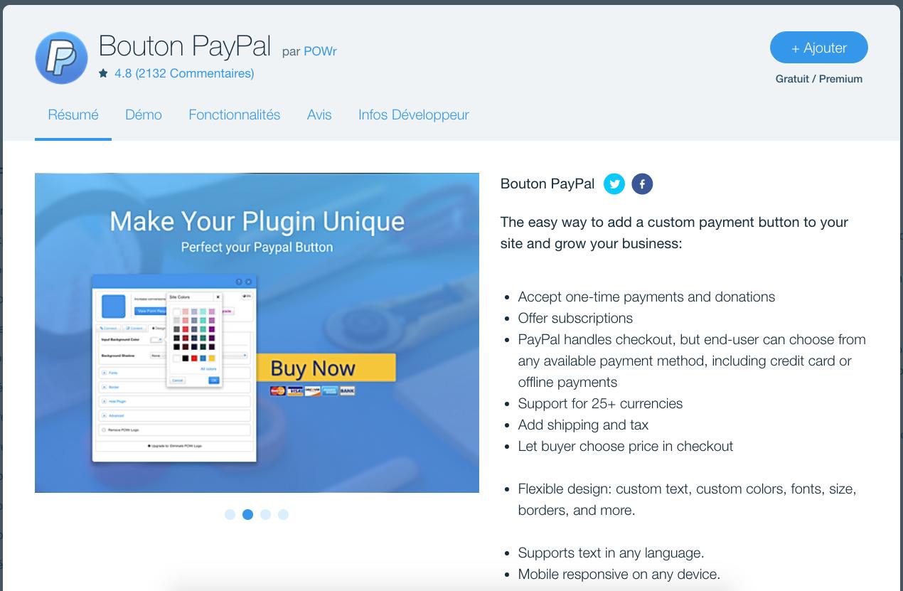 PayPal Wix