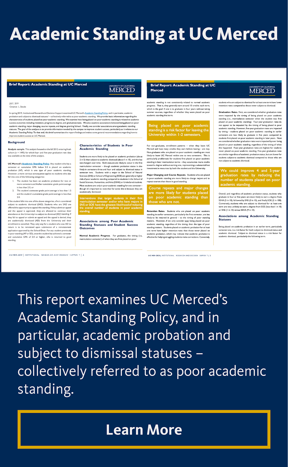 Academic Standing at UC Merced