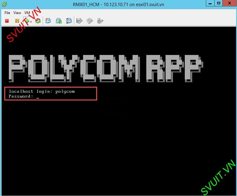 Install MCU Polycom RMX Virtual Edition (1)