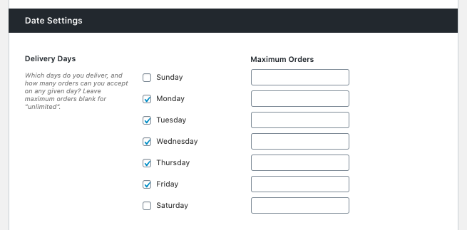 WooCommerce delivery dates