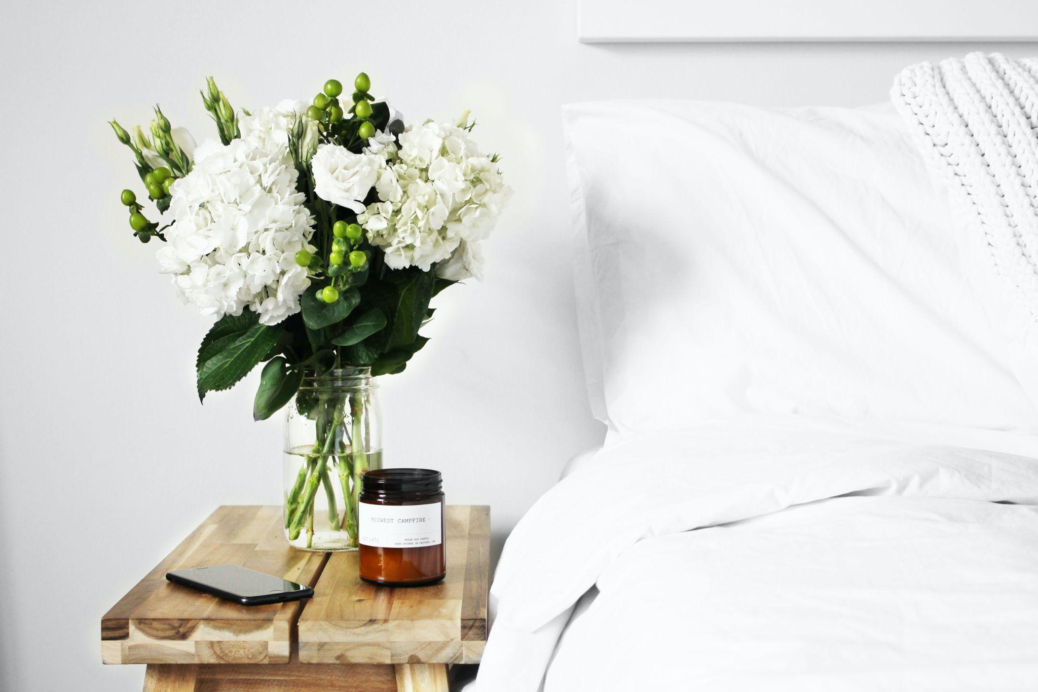 flowers at bedside