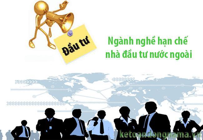 Lĩnh vực kinh doanh bị cấm khi thành lập doanh nghiệp vốn nước ngoài
