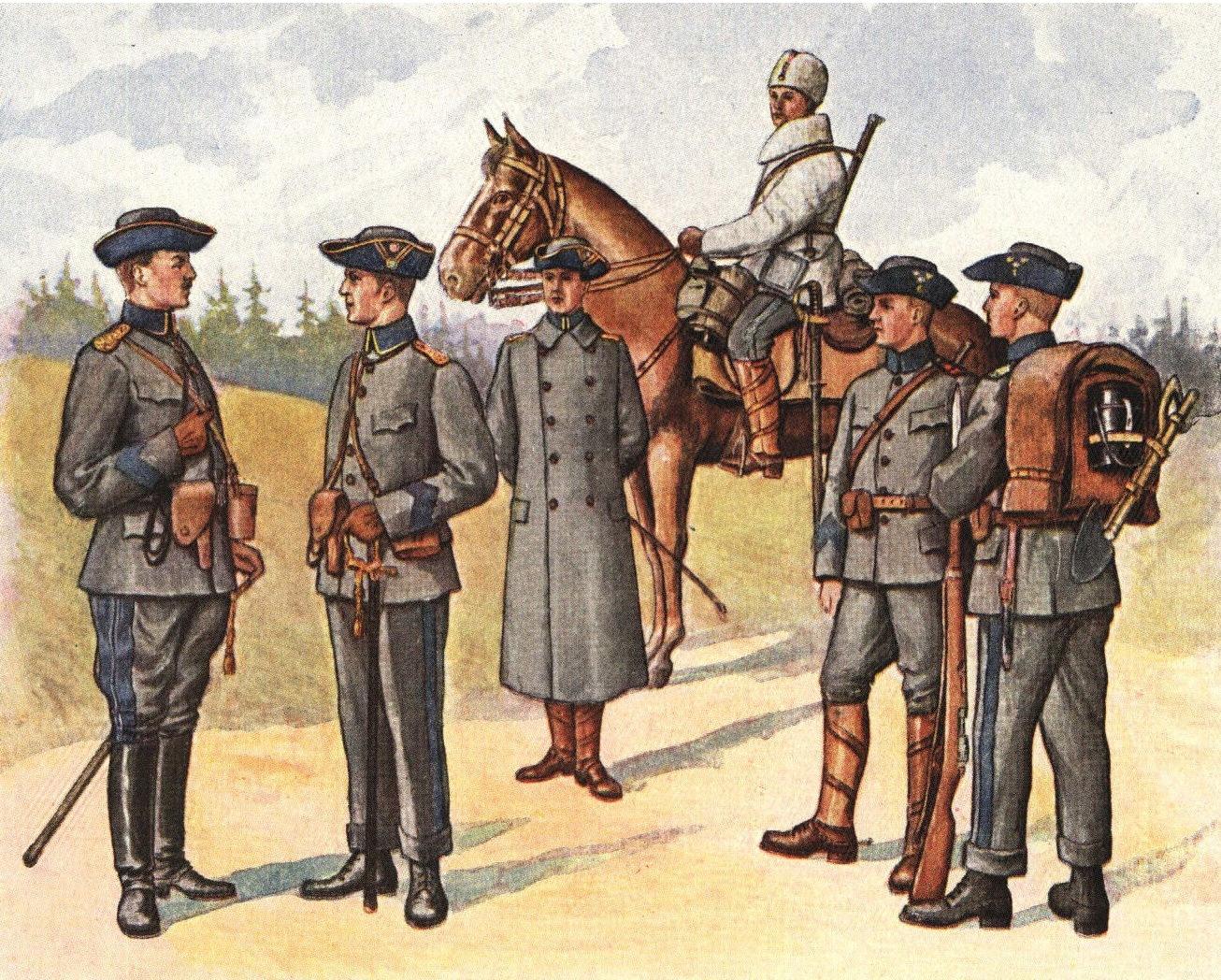 Soldiers wearing randoseru