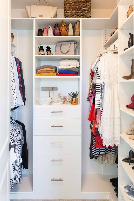 Add a Chest of Drawers in a Small Walk-in Closet