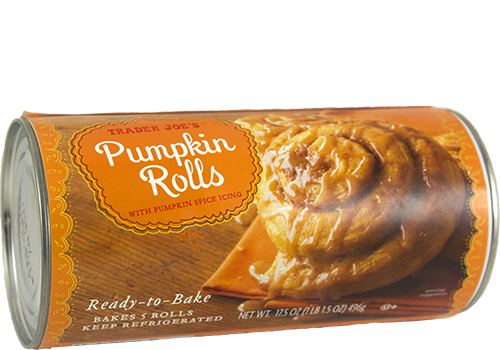 Container of Pumpkin Rolls with Pumpkin Spice Icing