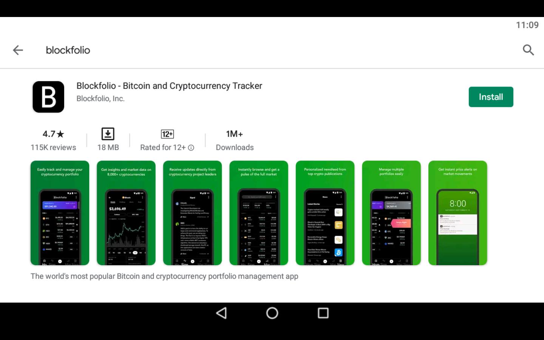 Blockfolio app on PC