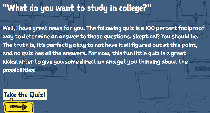 What do you want to study in college quiz cover