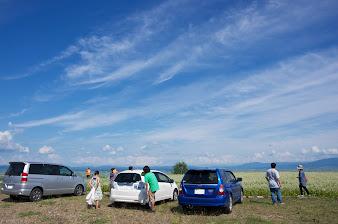 眺望の丘に駐車