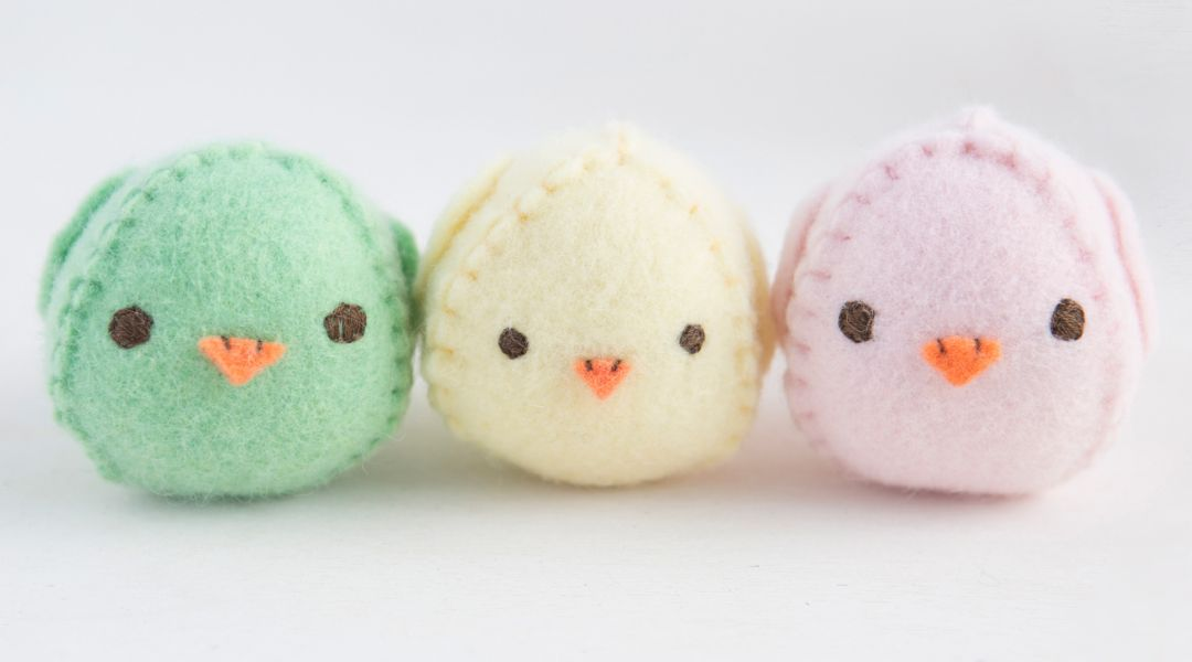 Easter Crafts - Hand Sew an Easter Chick Softie and Basket