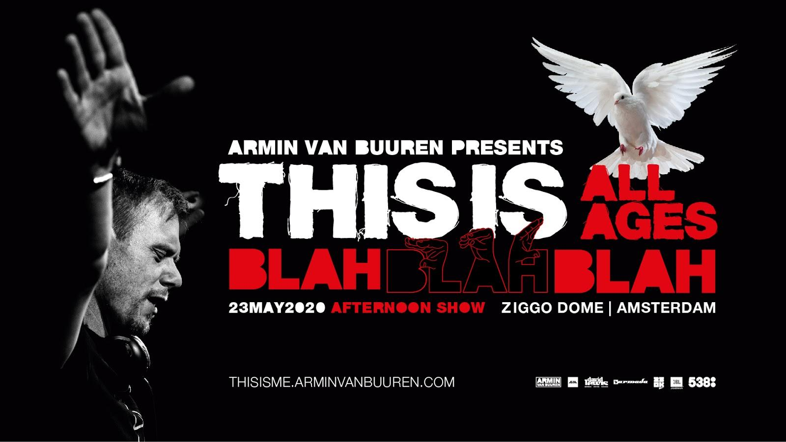 Armin van Buuren announces special all-ages 'This is Blah Blah Blah' show!