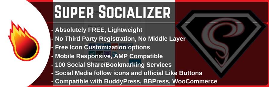Social sharing plugin, social login and WordPress social commenting - Super Socializer
