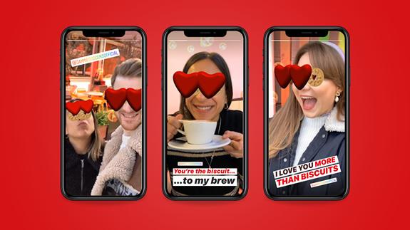 Jammie Dodger's Valentines Instagram Filter
