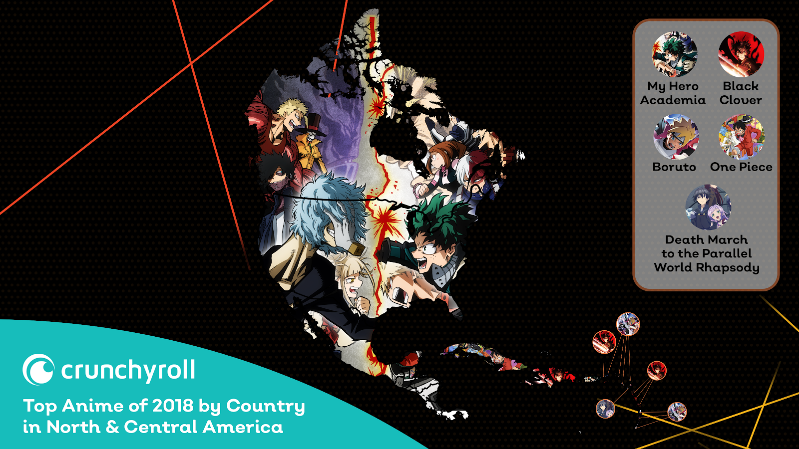 Crunchyroll Top 2018 Anime - North & Central America America (click to enlarge)