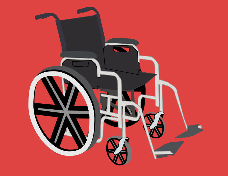 <strong>Wheelchair</strong> by Rfc1394 - Common <strong>wheelchair</strong>; red background to make ...