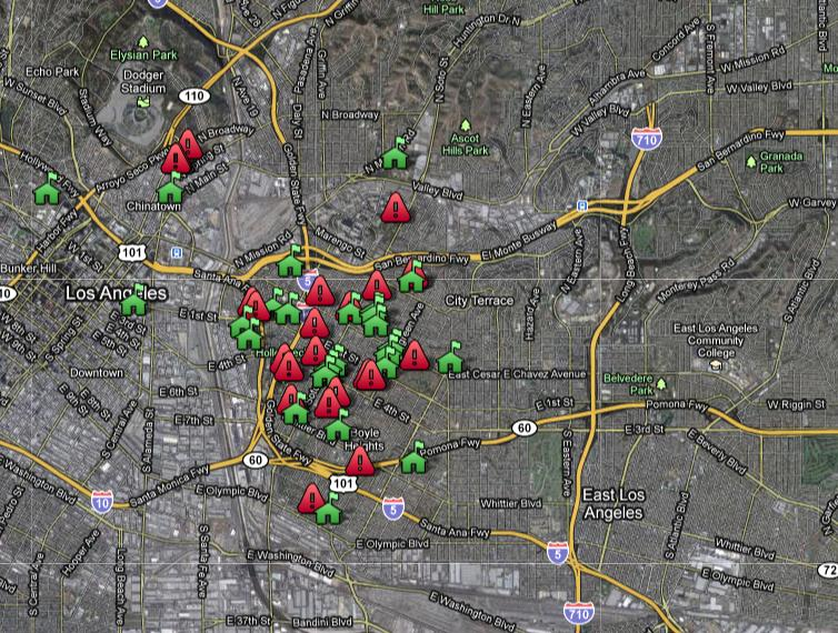 Bad Areas Of Los Angeles Map.Authority Boyle Heights
