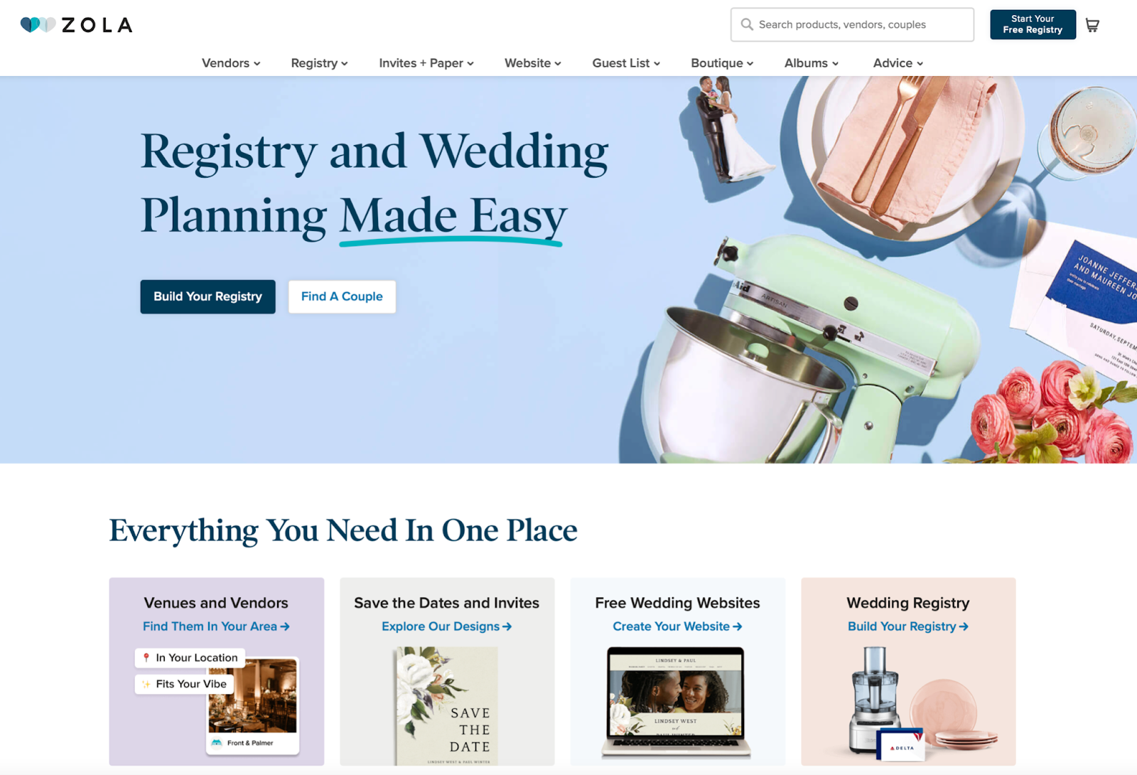 zola registry for honeymoons and weddings