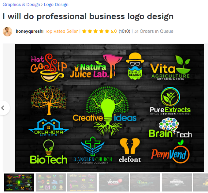 Five Top Rated Seller on fiverr they are really best logo designer