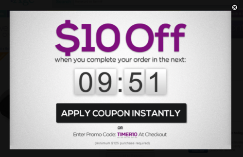 Cart Abandonment - Time Sensitive Discount Example