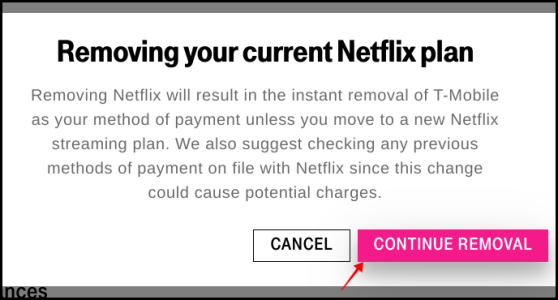 T-Mobile Netflix Cancelation
