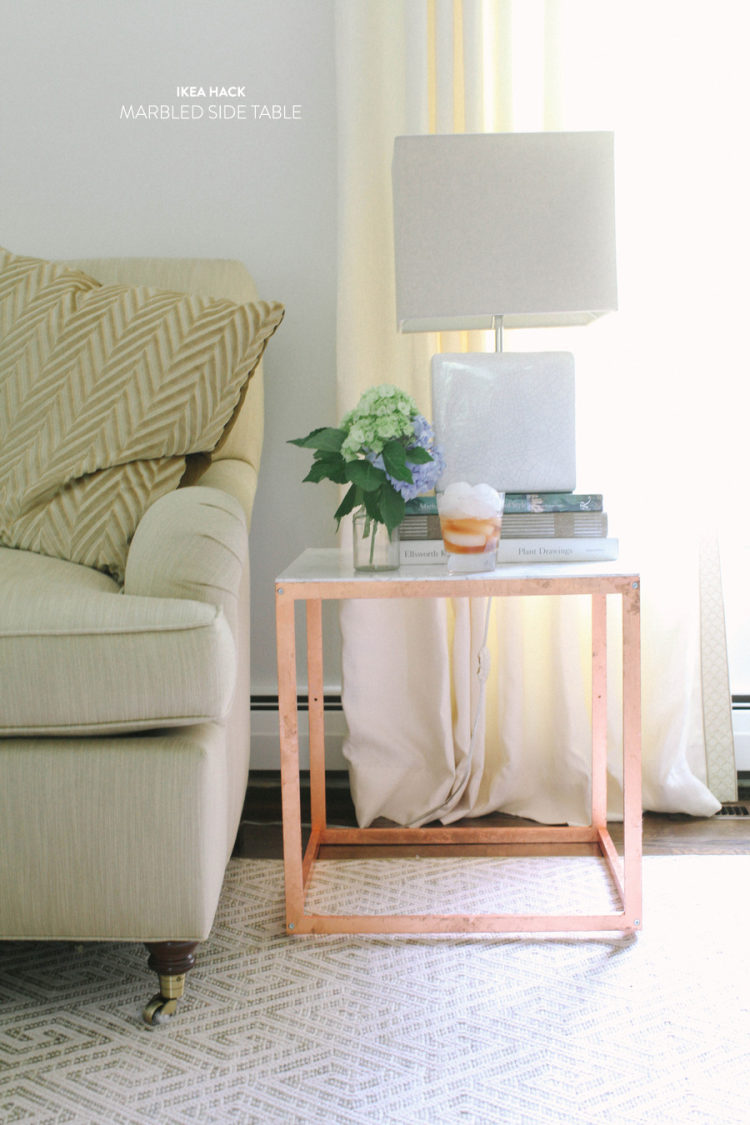 Copper and Marble Side Table: These will help you save maney and transform your space.