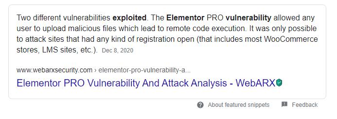 Is WordPress Secure: Elementor Hacked