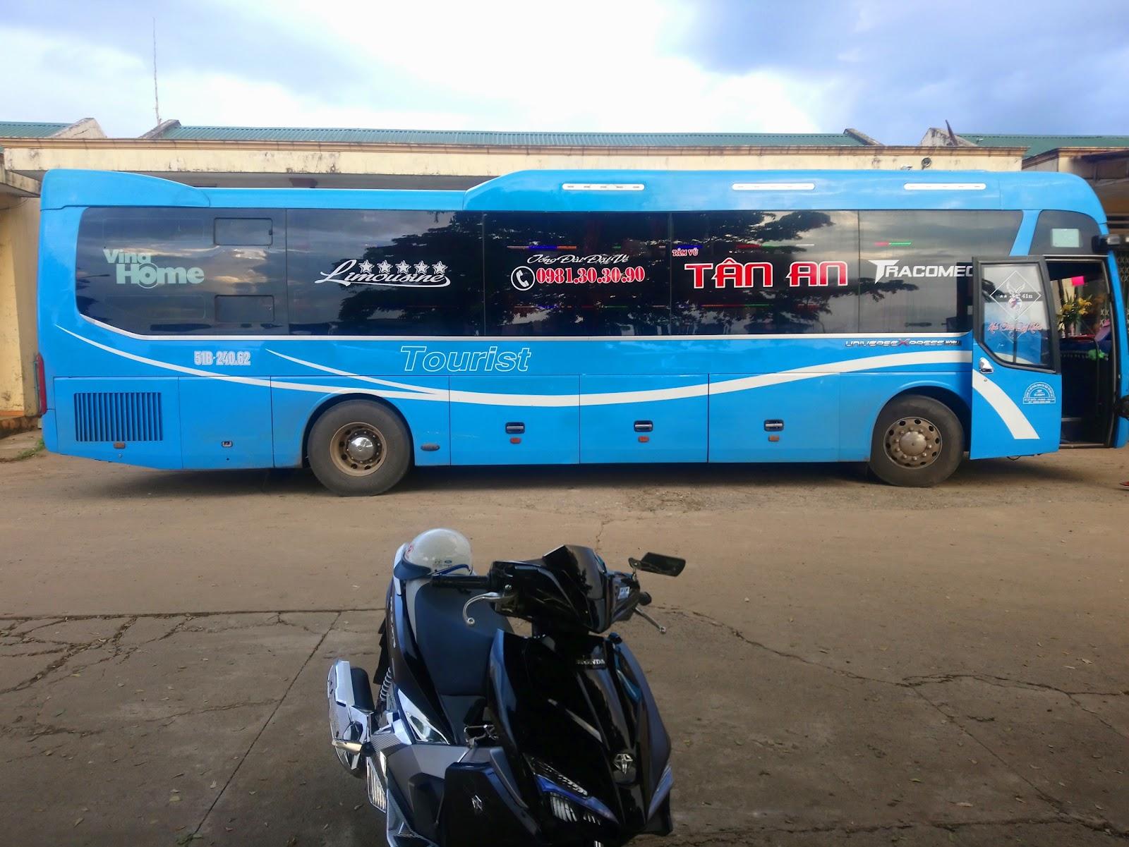 Xe Tân An từ Sài Gòn đi Gia Lai