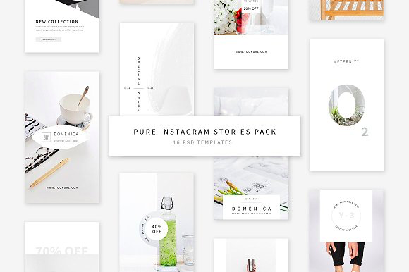 Swiss Cube Pure Instagram Stories Pack