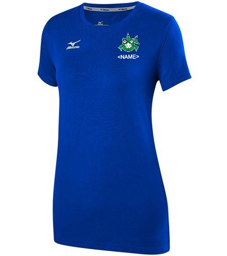 Team shirt royal - Mizuno Women's Volleyball Attack Tee Shirt 2.0
