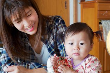美圭さんと紗英ちゃん(0歳)