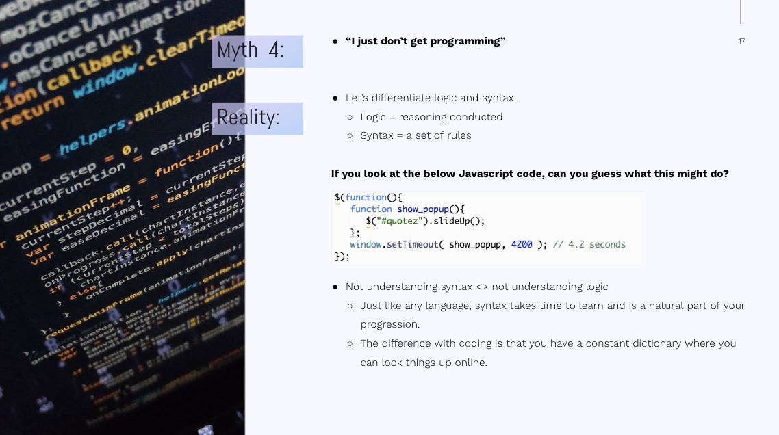 The 7 Myths of Learning to Code