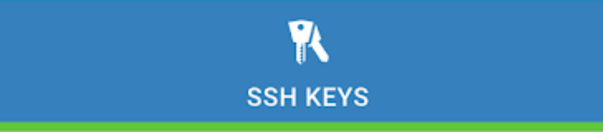 SSH Keys with blue background.