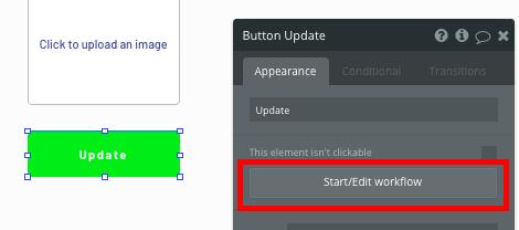 Creating a new event in a no-code Nextdoor clone app