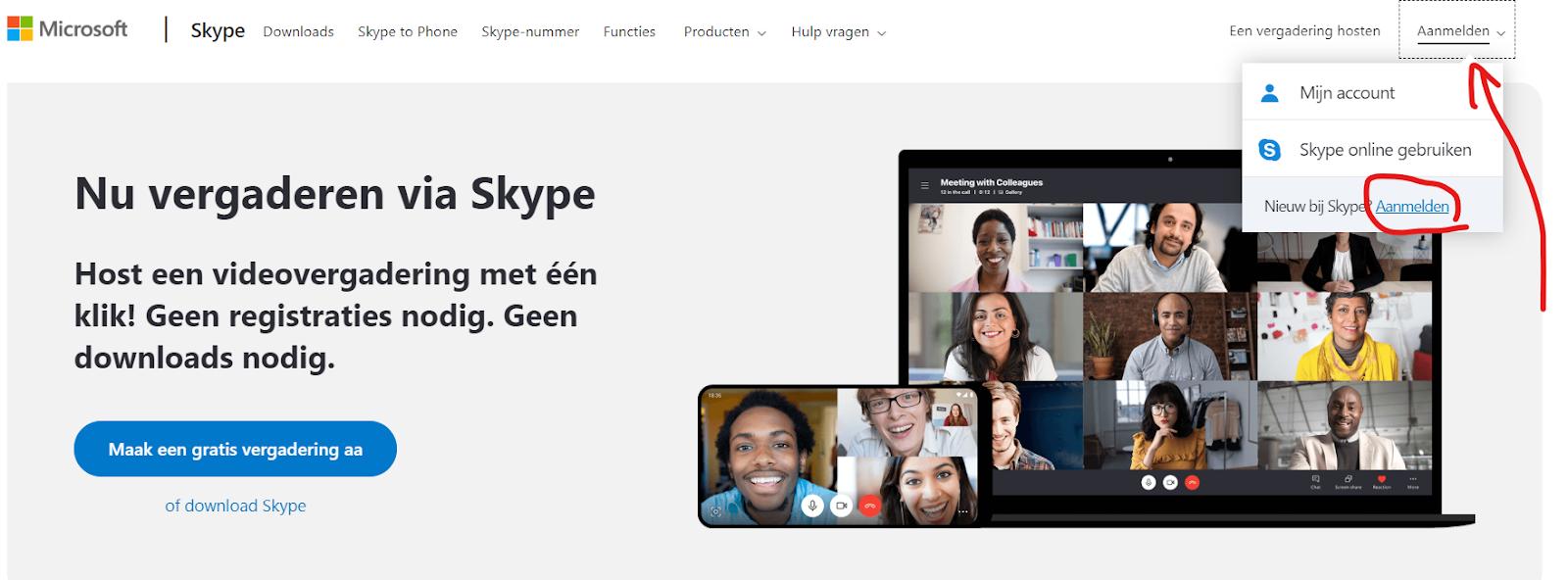 Hoe een skype account aanmaken en gebruiken in 5 stappen 1