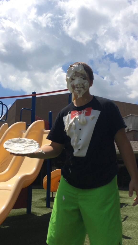 The Mystery Man Got Pied