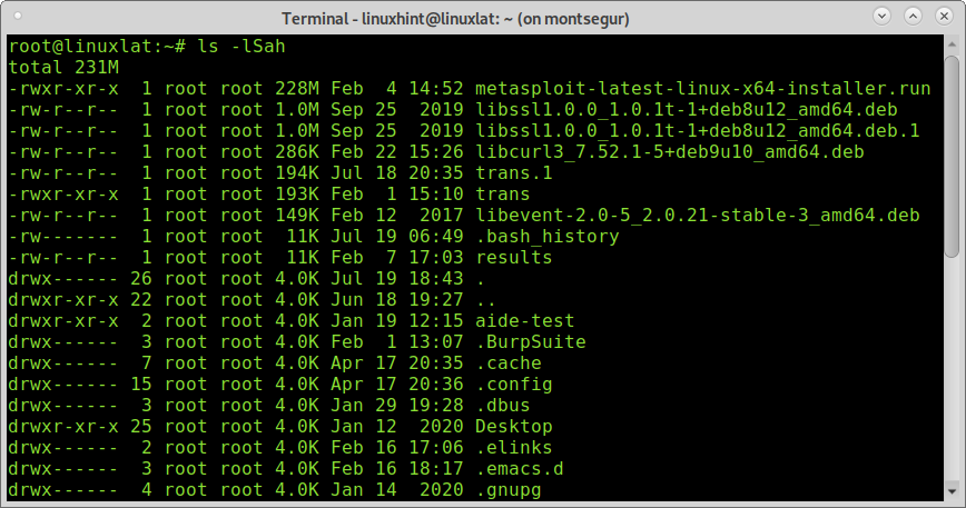 Ordenar directorios por tamaño Linux